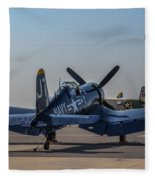 Navy Corsair Fleece Blanket
