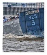 Navy Landing Craft 325 Fleece Blanket