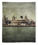 Navy Pier Fleece Blanket