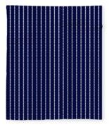 Navy Pinstripe 1 Fleece Blanket