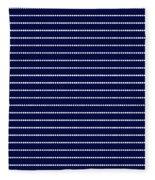 Navy Pinstripe 2 Fleece Blanket