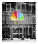 Nbc Facade Selective Coloring Fleece Blanket