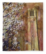 Ncsu Bell Tower Fleece Blanket