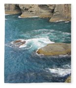 Neah Bay At Cape Flattery Fleece Blanket