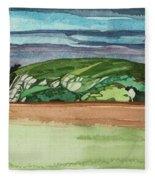 Near Dervaig, 2000 Wc On Paper Fleece Blanket