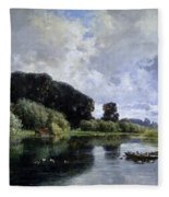 Near Friesland Fleece Blanket
