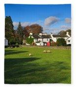 Near Sawrey In The Lake District Fleece Blanket