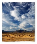 Near The Intersection Of God And The Eastern Sierras Fleece Blanket