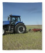 Nebraska Farming Fleece Blanket