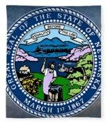 Nebraska State Seal Fleece Blanket