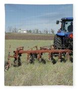 Nebraska Wheat Field Fleece Blanket