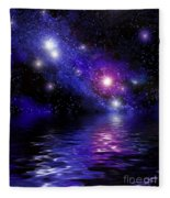 Nebula Reflection Fleece Blanket