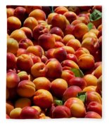 Nectarines For Sale At Weekly Market Fleece Blanket