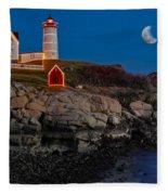 Neddick Lighthouse Fleece Blanket