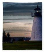 Ned's Point Light Fleece Blanket