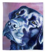 Need Help With That? Black Lab Fleece Blanket