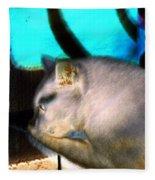 Negative Cat Fleece Blanket