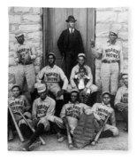 Negro Baseball Fleece Blanket