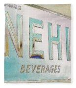 Nehi Ice Cold Beverages Sign Fleece Blanket