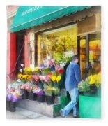 Neighborhood Flower Shop Fleece Blanket