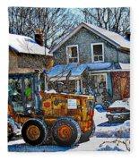 Neighbourhood Snowplough 2 Fleece Blanket