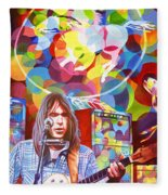 Neil Young-crazy Horse Fleece Blanket