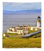Neist Point Lighthouse Isle Of Skye Fleece Blanket