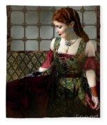 Nell Gwynn Meets The King Fleece Blanket