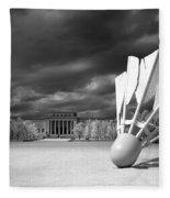 Nelson Akins Art Museum In Infrared Fleece Blanket