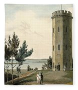 Nelsons Tower, Forres, From A Voyage Fleece Blanket