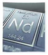 Neodymium Chemical Element Fleece Blanket