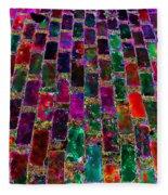Neon Brick Fleece Blanket