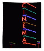 Neon Cinema Fleece Blanket