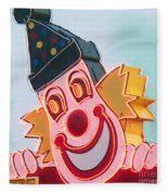 Neon Clown Fleece Blanket