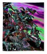 Neon Coleus Fleece Blanket