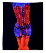Neon Dream II Fleece Blanket