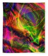Neon Filigree Fleece Blanket