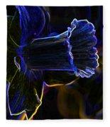 Neon Flowers Fleece Blanket
