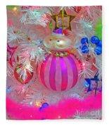 Neon Holiday Tree Fleece Blanket