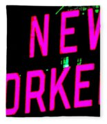 Neon New Yorker Fleece Blanket