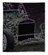 Neon Roadster Fleece Blanket