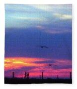 Neon Sunset Fleece Blanket