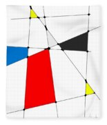 neoplasticism 10 III Fleece Blanket