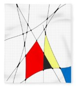 neoplasticism 10 V Fleece Blanket