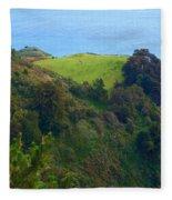 Nepenthe View At Big Sur In California Fleece Blanket