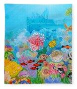 Neptune Kingdom Fleece Blanket