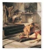 Nero And Agrippina Fleece Blanket