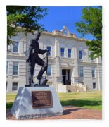 Ness County Courthouse In Kansas Fleece Blanket