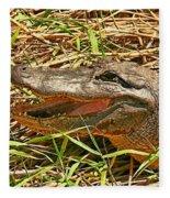 Nesting Alligator Fleece Blanket
