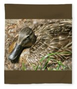 Nesting Mallard Fleece Blanket